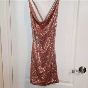 FASHION NOVA sequin short dress